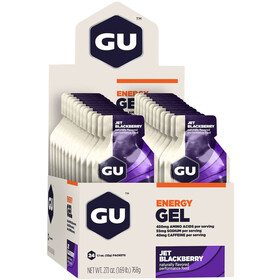 GU Energy Gel Box 24 x 32g, Jet Blackberry